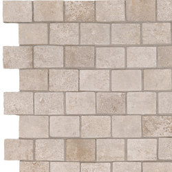 Story ivory mosaico burattato | Bodenfliesen | Ceramiche Supergres