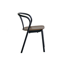 Flow | dining chair with walnut seat | Mehrzweckstühle | Ercol