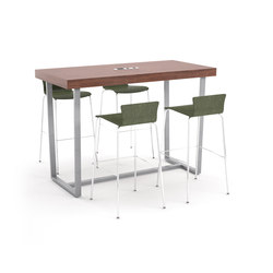 Parma bar height table angled metal table | Mesas de reunión altas | ERG International