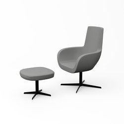 Vella high back and ottoman | Lounge chairs | ERG International