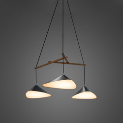 Emily Group of Three semi-matte | Suspended lights | Daniel Becker Studio