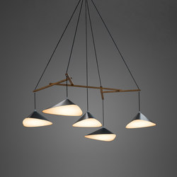Emily Group of Five semi-matte | Suspended lights | Daniel Becker Design Studio