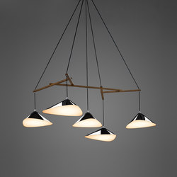 Emily Group of Five high gloss | Suspended lights | Daniel Becker Design Studio