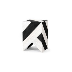 Series 45 Stool/Side Table black&white stripes | Mesas auxiliares | Daniel Becker Studio