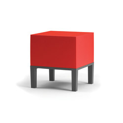 Primary Pouf 01 red | Gartenhocker | Quinze & Milan