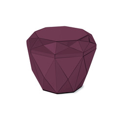 Diamond Table burgundy | Mesas auxiliares | Reflections by Hugau/Larsson