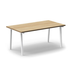 Mornington Table B with Oak Veneer Top | Canteen tables | VUUE