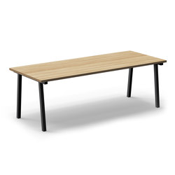Mornington Table C with Oak Veneer Top | Tables de cantine | VUUE