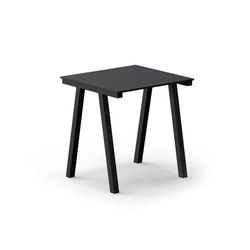 Mornington Table D with Black Compact Panel Top | Cafeteriatische | VUUE