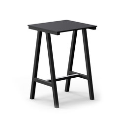 Mornington Table E with Black Compact Panel Top | Tables mange-debout | VUUE