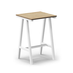 Mornington Table E with Oak Veneer Top | Bartische | VUUE