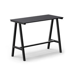 Mornington Table F with Black Compact Panel Top | Tables mange-debout | VUUE