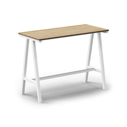 Mornington Table F with Oak Veneer Top | Standing tables | VUUE