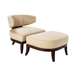 Mulholland Chair and Ottoman | Poltrone lounge | Powell & Bonnell