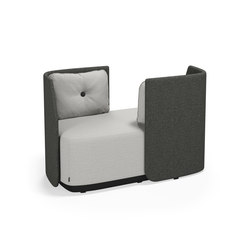 Fields 2 seater low back | Divani lounge | Kinnarps