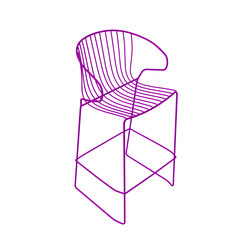 Bolonia tabouret | Bougainvillea purple | Tabourets de bar | iSimar