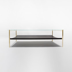 Duotone Rectangular Coffee Table | Brass / Black | Tables basses | Yield
