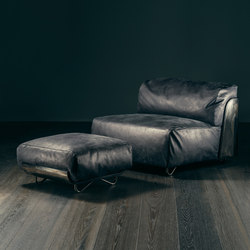 SAINT-GERMAIN Armchair | Loungesessel mit Fusshocker | GIOPAGANI