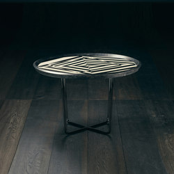 Saint Ouen – ABSINTHE Round Low Coffee Table | Mesas auxiliares | GIOPAGANI