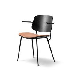 Søborg Steel Base Armchair - seat upholstered | Sillas de visita | Fredericia Furniture