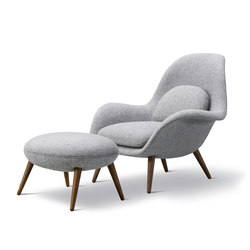 Swoon Chair + Ottoman | Sessel | Fredericia Furniture