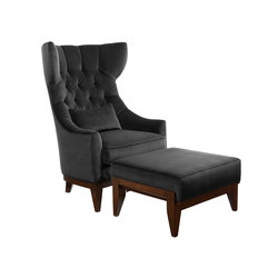 Kudu Chair and Ottoman | Poltrone lounge | Powell & Bonnell