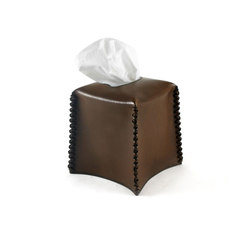 Leather Lacing Tissue Box | Beauty accessory storage | Pfeifer Studio