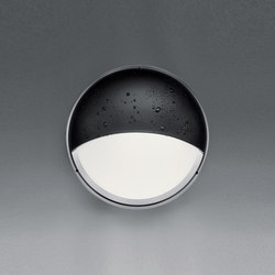 Pantarei 190 Half-light screen silver grey | Outdoor wall lights | Artemide Architectural