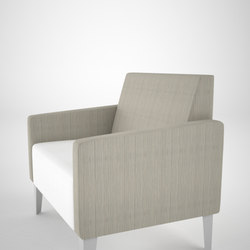 Malibu Straight Unit with Slope Arm | Armchairs | ERG International