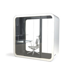 Framery Q | black/white with white door and frame | Systèmes de bureau | Framery