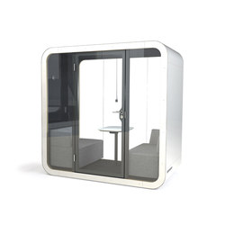 Framery Q | black/white with white door and frame | Office systems | Framery