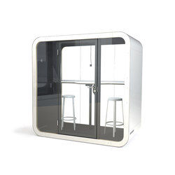 Framery Q | black/white with white door and frame | Bürosysteme | Framery