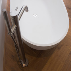 MONO 40 | Floor mounted bath mixer with hand shower | Bath taps | COCOON