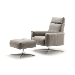 Rolf Benz 50 SE | Lounge chairs with footstools | Rolf Benz