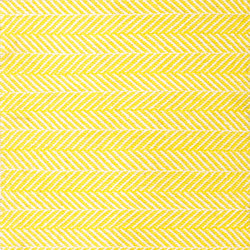 Amen Break white & yellow | Formatteppiche / Designerteppiche | kymo