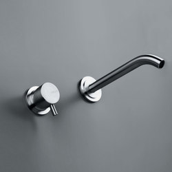 MONO SET02 | Wall mounted basin mixer with spout | Wash basin taps | COCOON