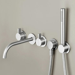 PB SET24 | Wall mounted complete bath set | Shower taps / mixers | COCOON