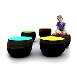 Fig Seating | Poufs | Yellow Goat Design