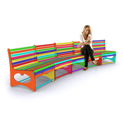Rainbow Parents Seating | Kids benches | Yellow Goat Design