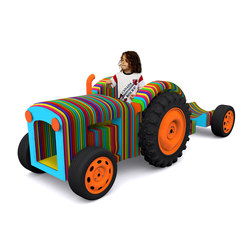 Rainbow Tractor | Play furniture | Yellow Goat Design