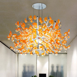 Crystal Ginkgo | Suspended lights | Yellow Goat Design
