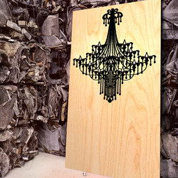 Inlay Chandelier | Wood panels | Yellow Goat Design