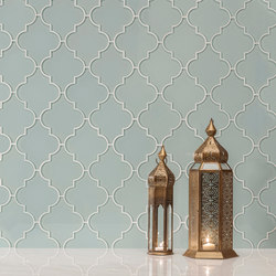 Arabesque | Icelandic Blue (Clear) | Glass tiles | AKDO