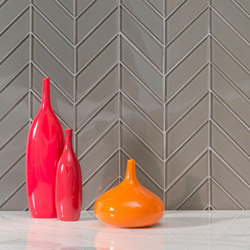 Chevron | Taupe (Clear) | Glass tiles | AKDO