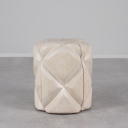 Colcha Hand Carved Stool | Hocker | Pfeifer Studio