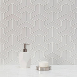 Cubism | Arctic White (Clear) | Glass tiles | AKDO