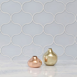 Dewdrop | Powder (Clear) | Glass tiles | AKDO