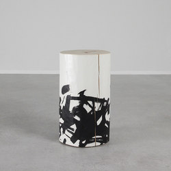 Katahana Hand Painted Log | Side tables | Pfeifer Studio