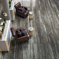 Travertino Black Glossy | Floor tiles | Rex Ceramiche Artistiche by Florim