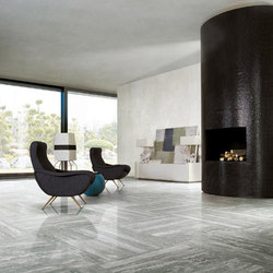 Travertino Grey Glossy | Carrelage pour sol | Rex Ceramiche Artistiche by Florim